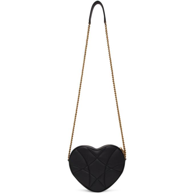 Dolce and Gabbana Black Devotion Heart Bag