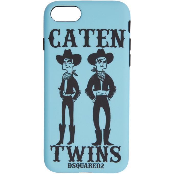 Photo: Dsquared2 Blue Caten Twins iPhone 8 Case
