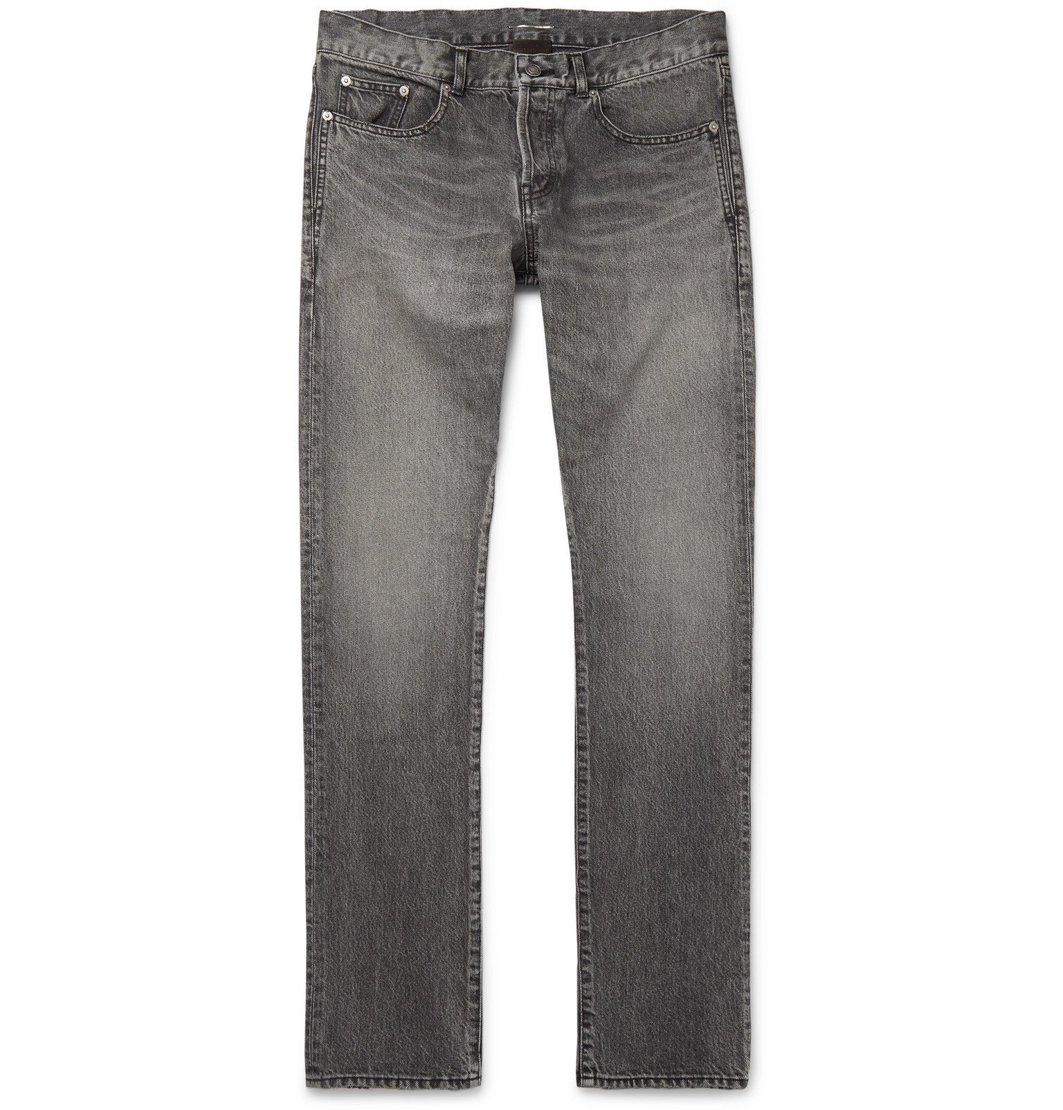 Photo: SAINT LAURENT - Slim-Fit Denim Jeans - Gray