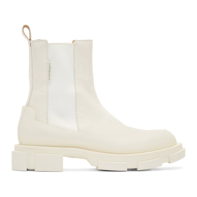 Photo: both SSENSE Exclusive Off-White Gao Chelsea Boots