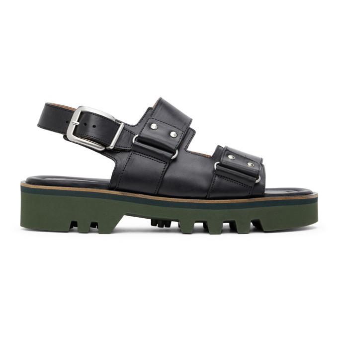 Photo: Dries Van Noten Black Leather Sandals