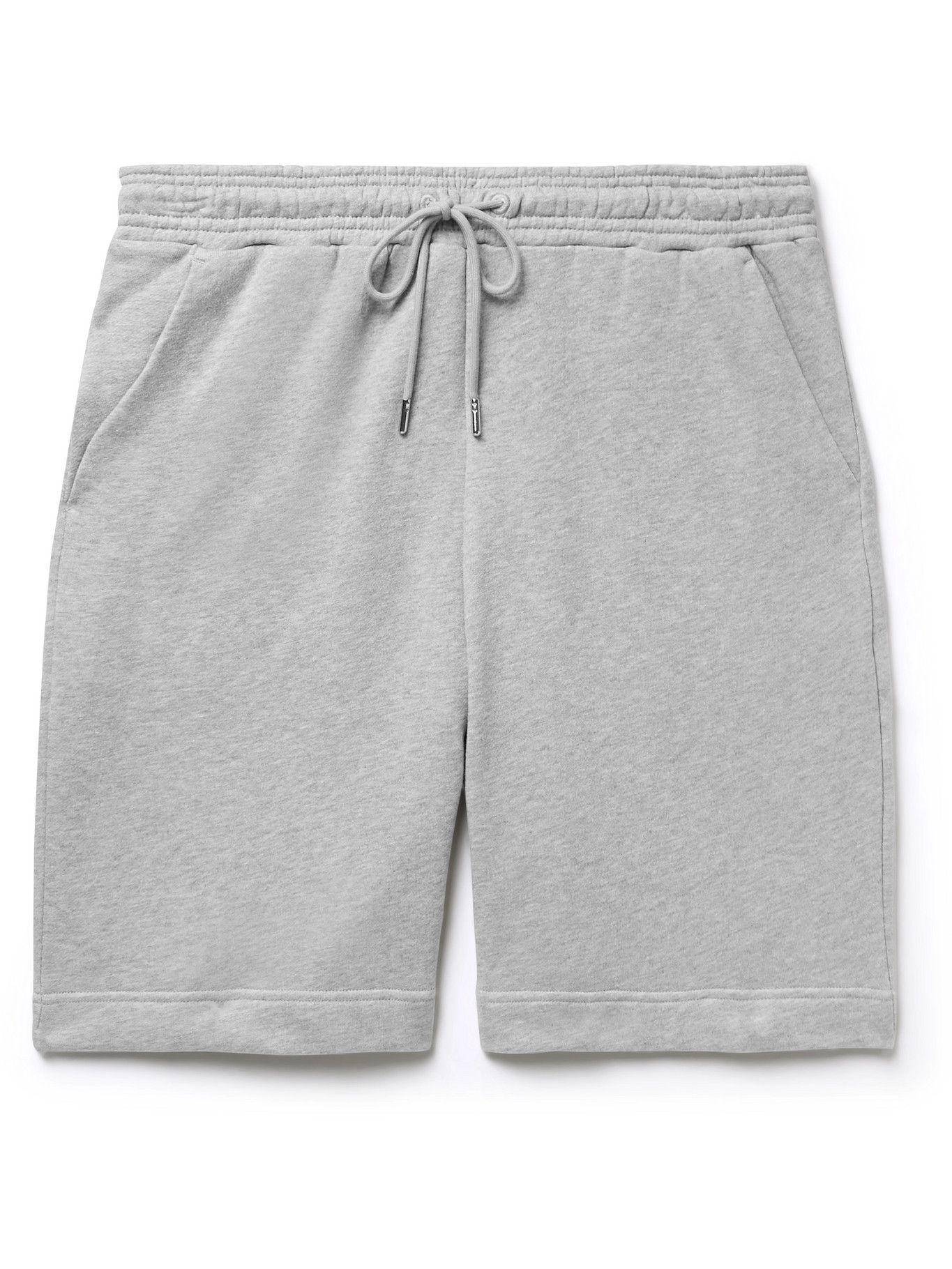 Photo: Ninety Percent - Wide-Leg Organic Cotton-Jersey Drawstring Shorts - Gray