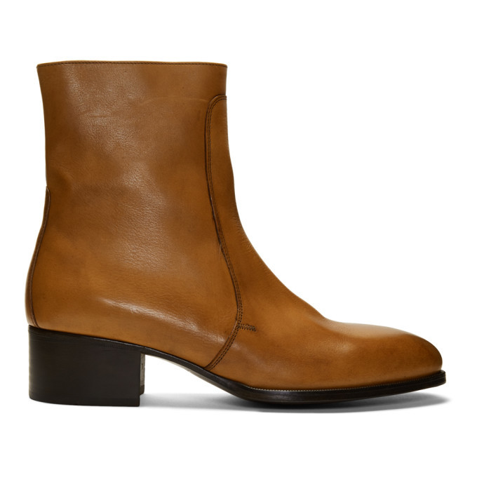 Photo: Lemaire Brown Leather Chelsea Boots