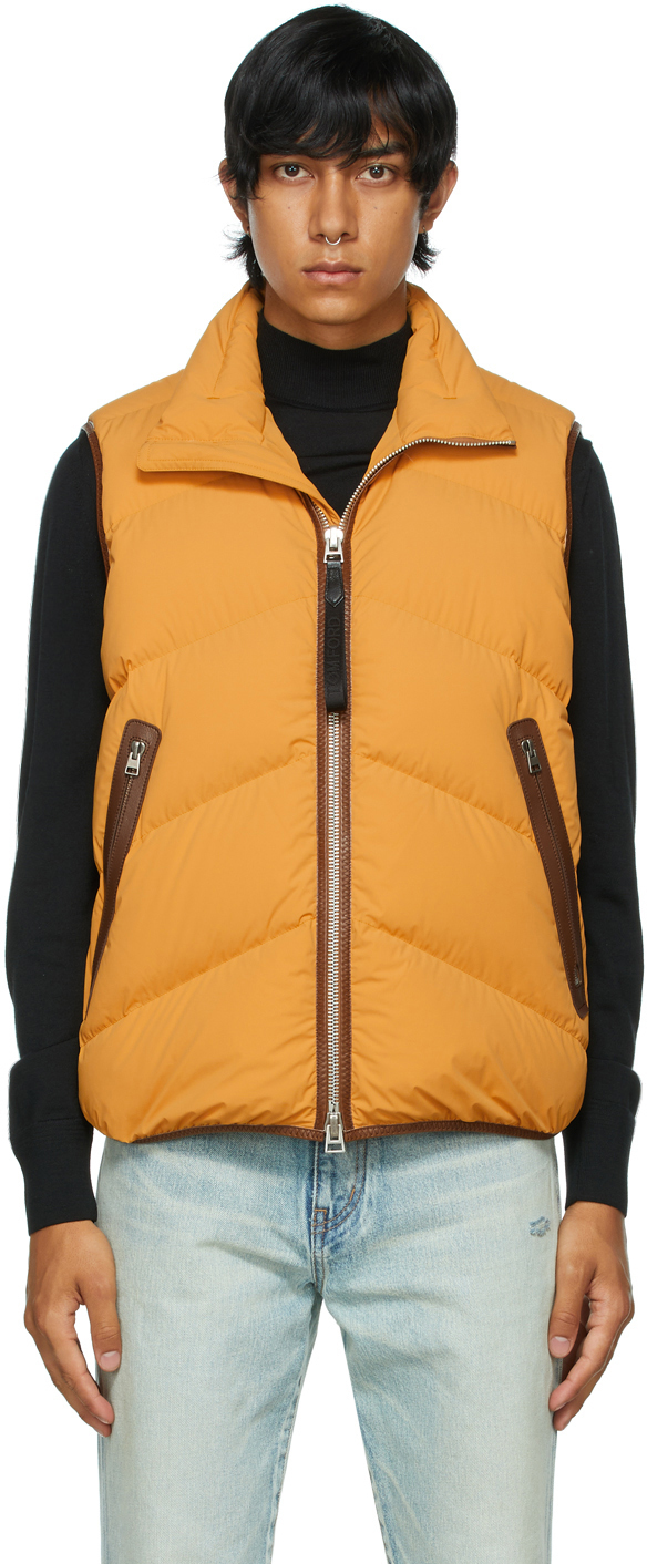 Photo: TOM FORD Yellow Down Compact Parachute Vest