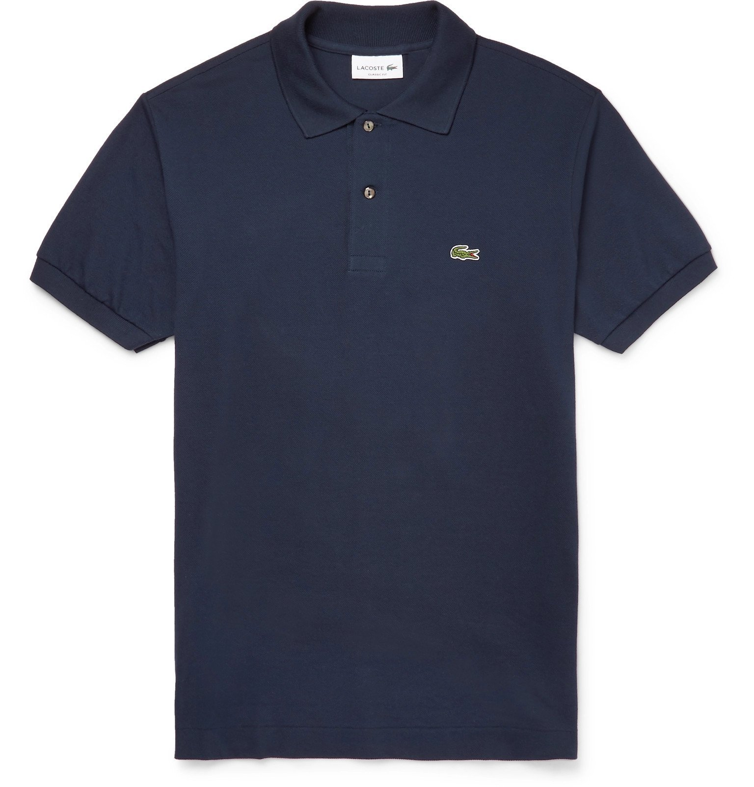 Photo: Lacoste - Cotton-Piqué Polo Shirt - Blue