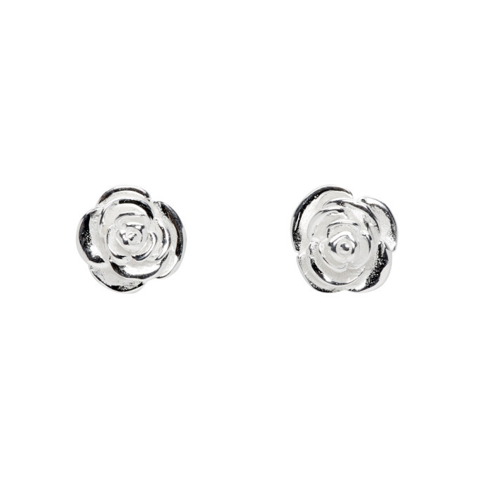 Photo: Stolen Girlfriends Club Silver Rose Bud Earrings