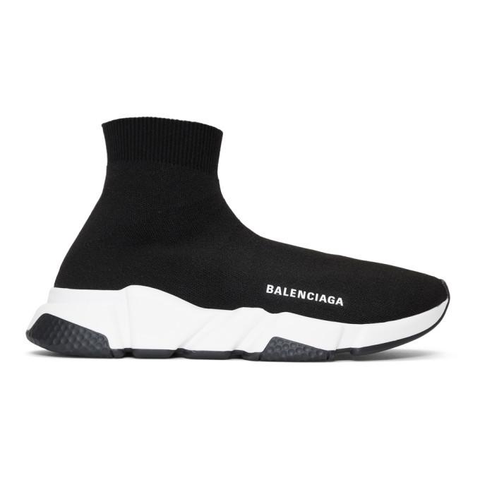Photo: Balenciaga Black Speed High-Top Sneakers