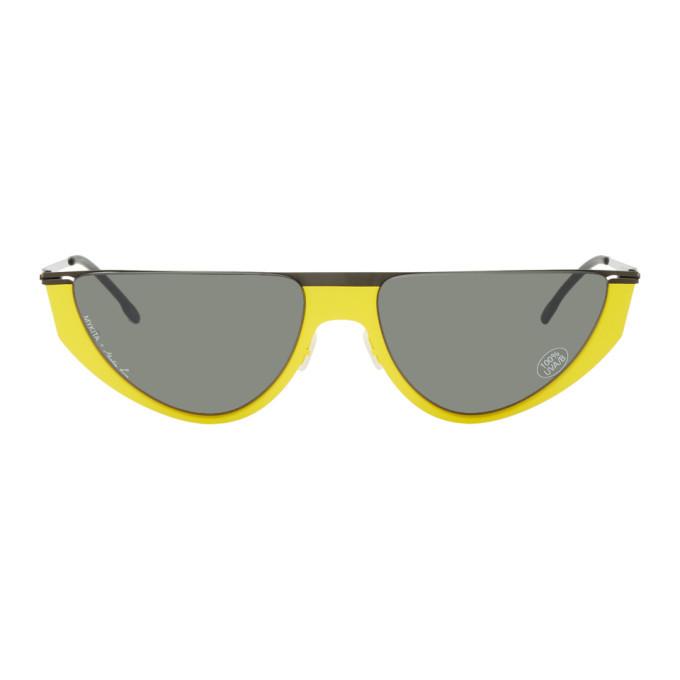 Photo: Martine Rose Black and Yellow Mykita Edition Selina Sunglasses
