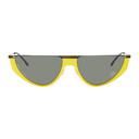 Martine Rose Black and Yellow Mykita Edition Selina Sunglasses