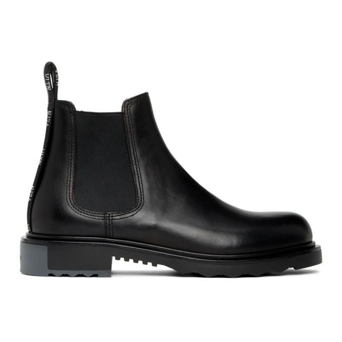 Photo: Valentino Black Valentino Garavani Beatle Chelsea Boot
