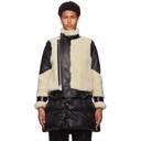 Sacai Black Sherpa and Nylon Jacket