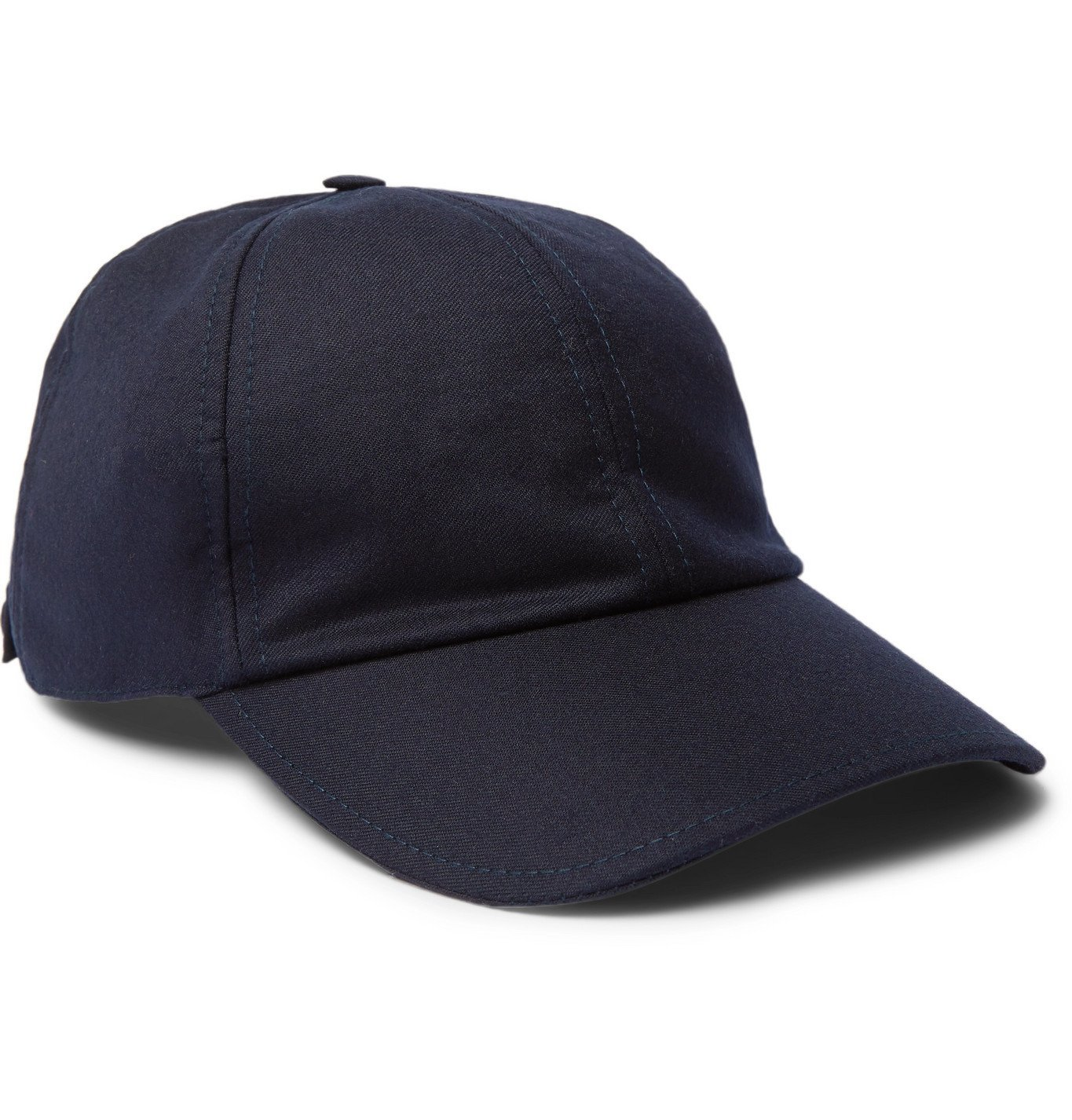 Photo: Officine Generale - Worsted Wool-Flannel Baseball Cap - Blue