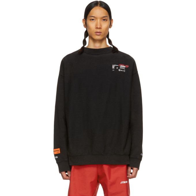Photo: Heron Preston Black Doves Sweatshirt