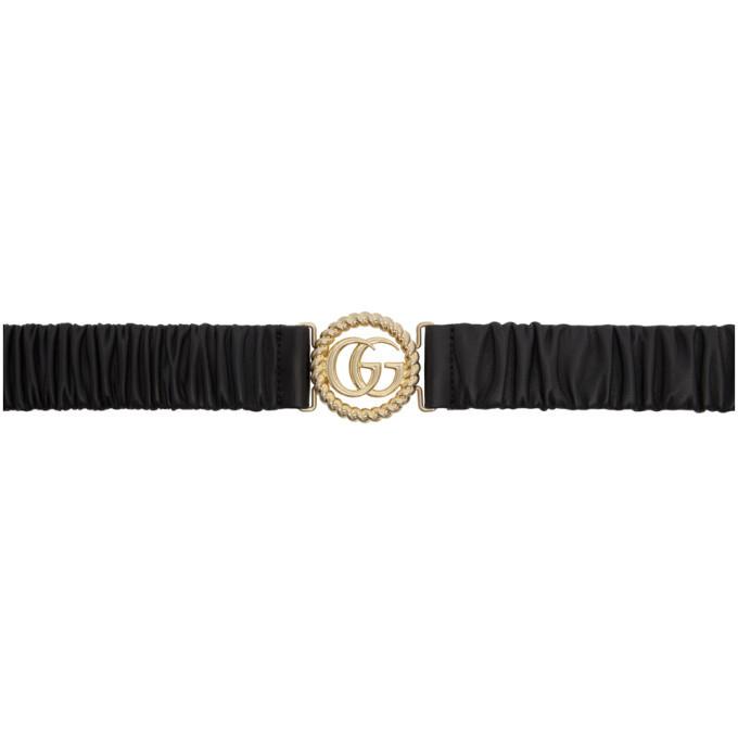 Photo: Gucci Black Torchon GG Buckle Belt