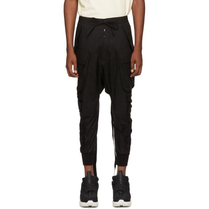 Photo: Unravel Black Tech Cotton Cargo Pants