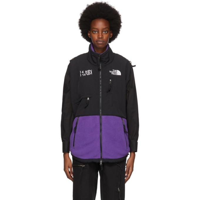 Photo: MM6 Maison Margiela Purple The North Face Edition Fleece Circle Sweater