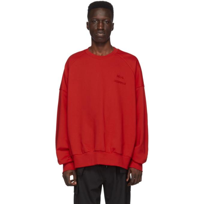 Photo: Juun.J Red Logo Sweatshirt