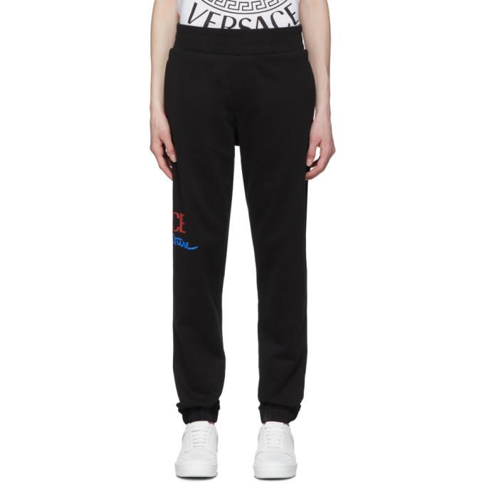 Versace Black Home Signature Lounge Pants