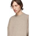 Giorgio Armani Tan Cashmere and Silk Kangaroo Pocket Sweater