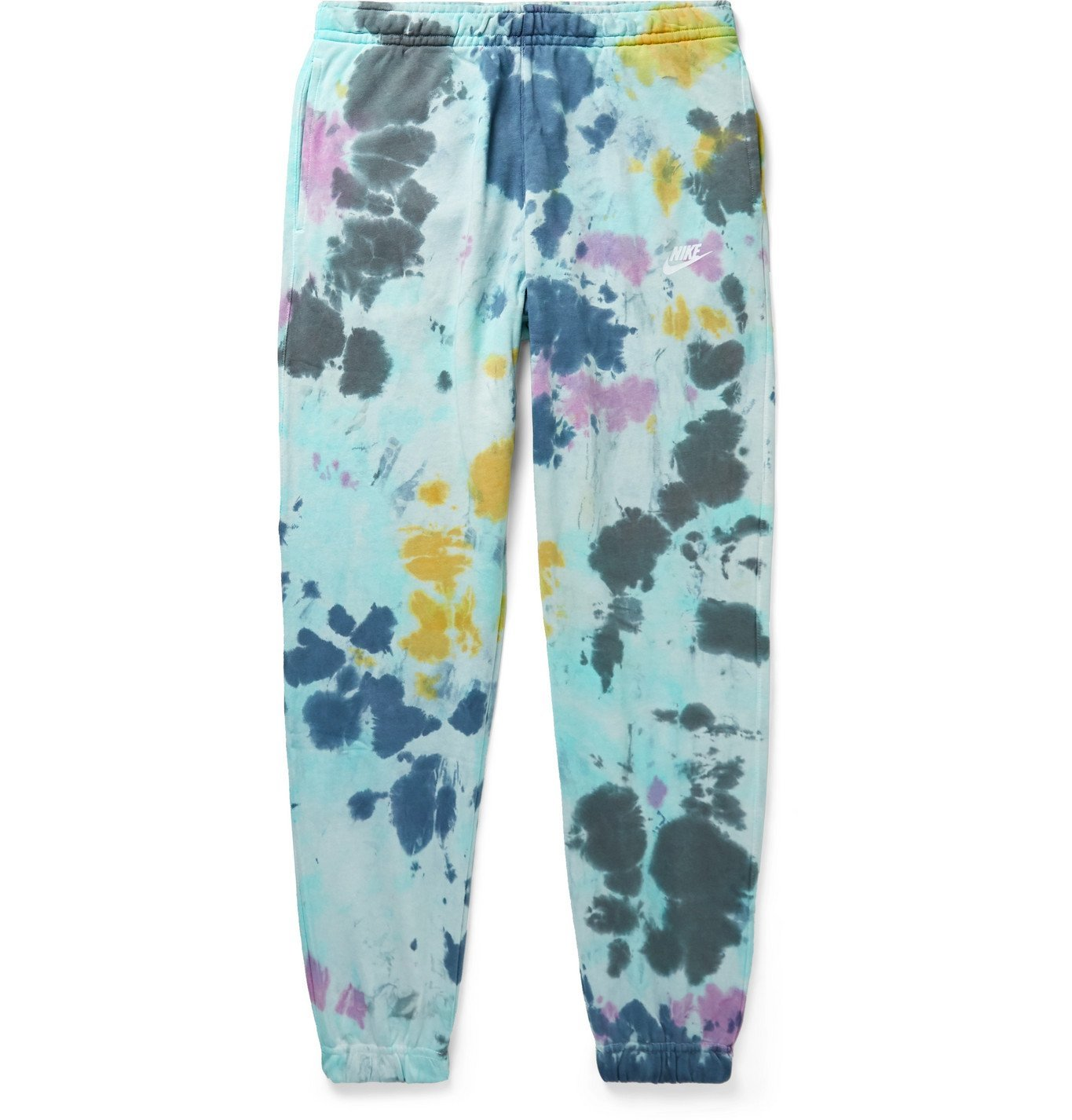 Photo: Nike - Sportswear Tie-Dyed Loopback Cotton-Blend Jersey Sweatpants - Yellow