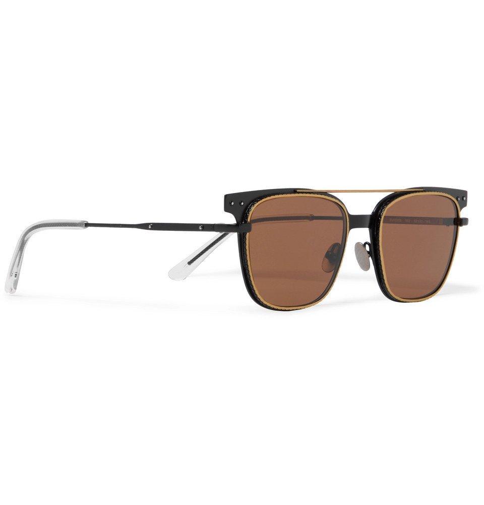 Bottega Veneta - Square-Frame Metal Sunglasses - Men - Brown