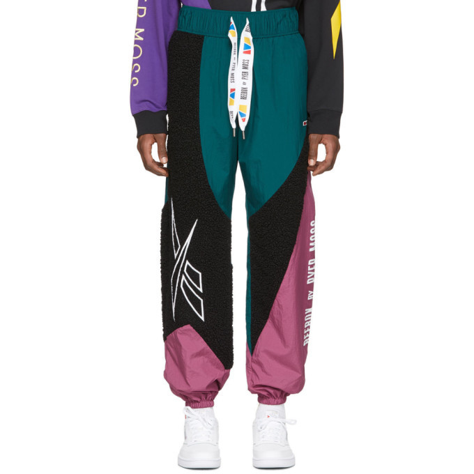 Photo: Reebok by Pyer Moss Black and Green Collection 3 Sherpa Track Pants