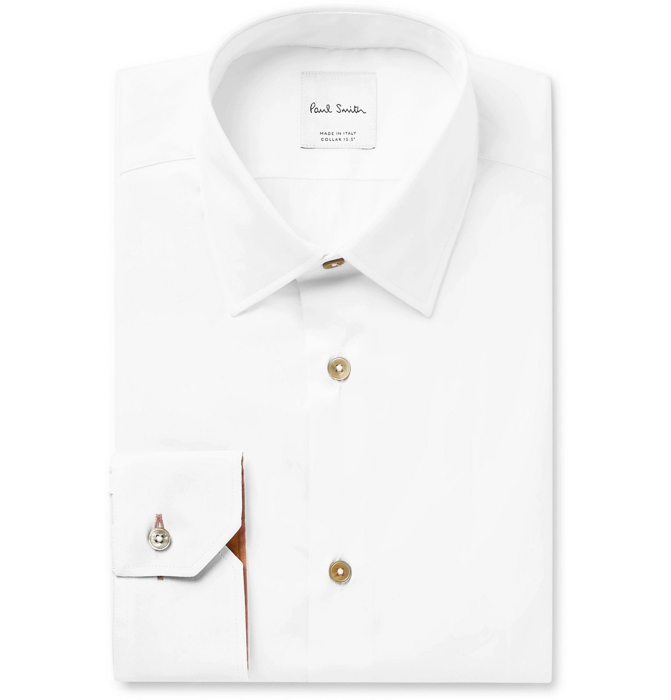 Photo: Paul Smith - Light-Blue Slim-Fit Cotton-Poplin Shirt - White