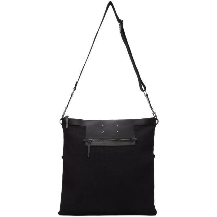 Photo: Maison Margiela Black Canvas Messenger Bag