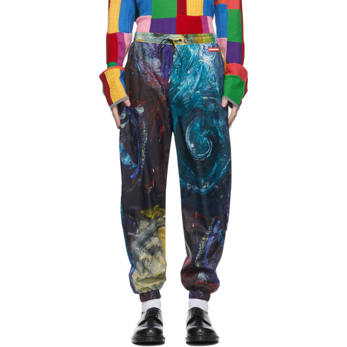 Photo: Charles Jeffrey Loverboy Multicolor Swirls Print Painters Tracksuit Trousers