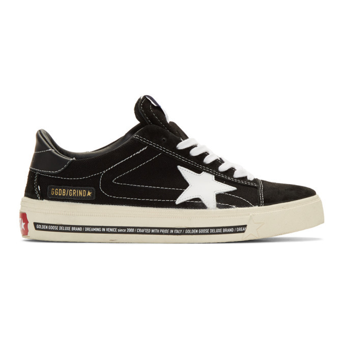 Photo: Golden Goose Black Grindstar Sneakers