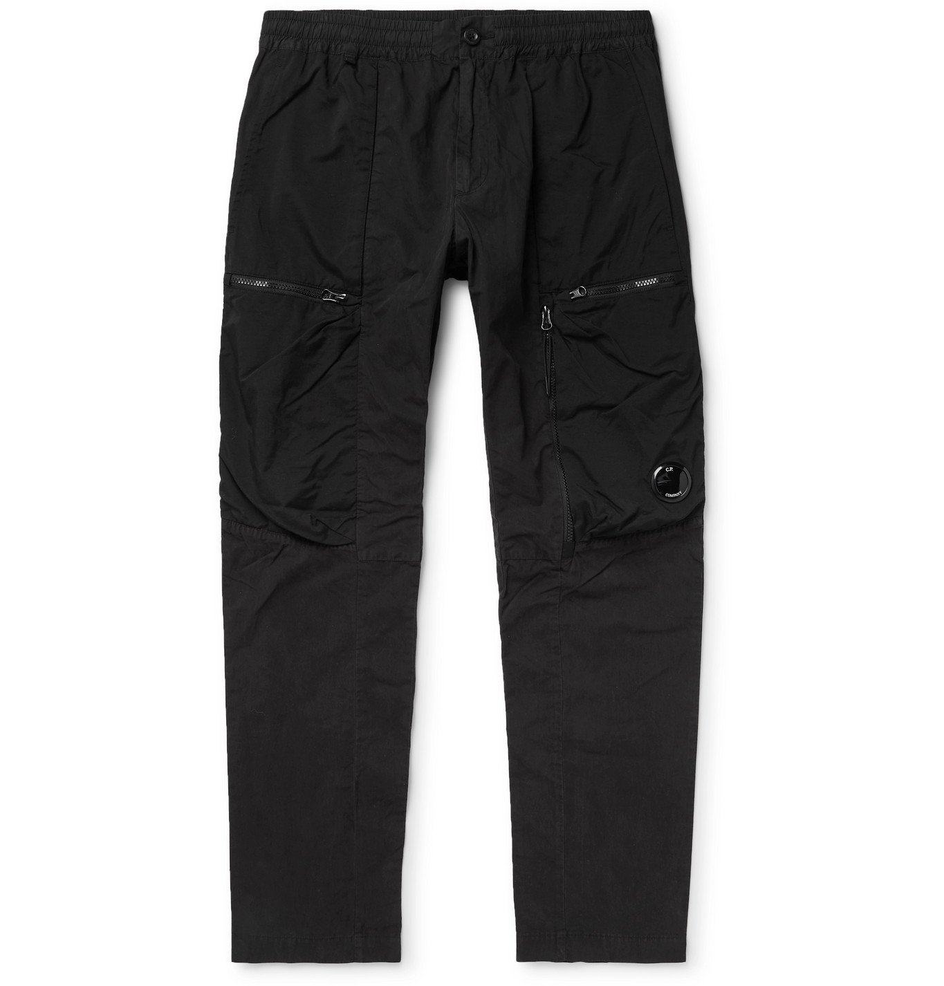 C.P. Company - Slim-Fit Tapered Cotton-Blend Cargo Trousers - Black