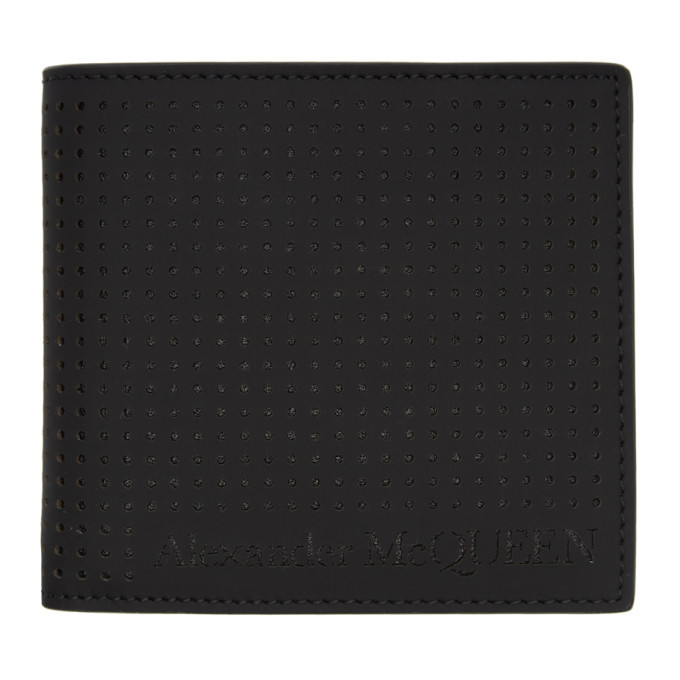 Photo: Alexander McQueen Black Perforated Bifold Wallet