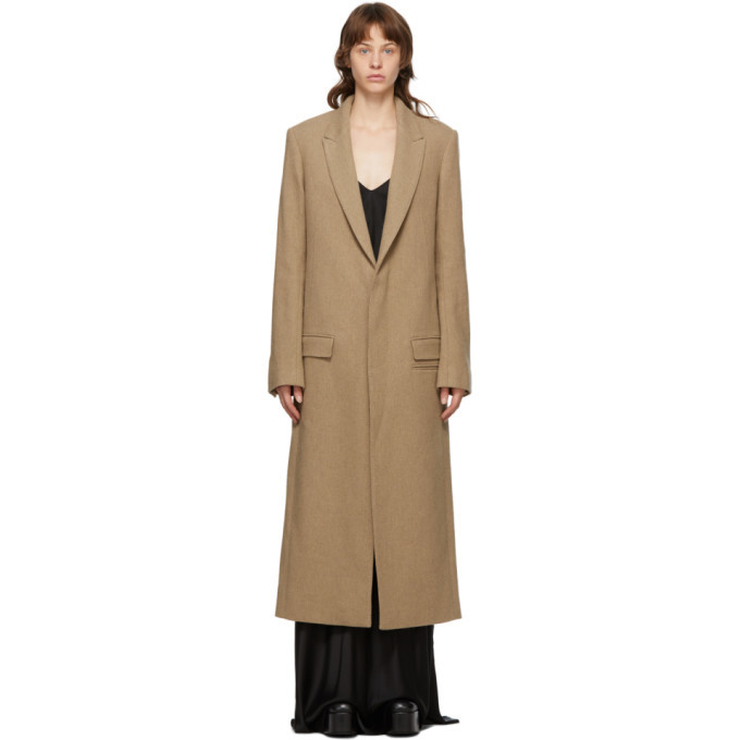 Photo: Haider Ackermann Tan Wool Samara Coat