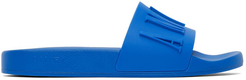 Photo: AMIRI Blue Pool Logo Slides