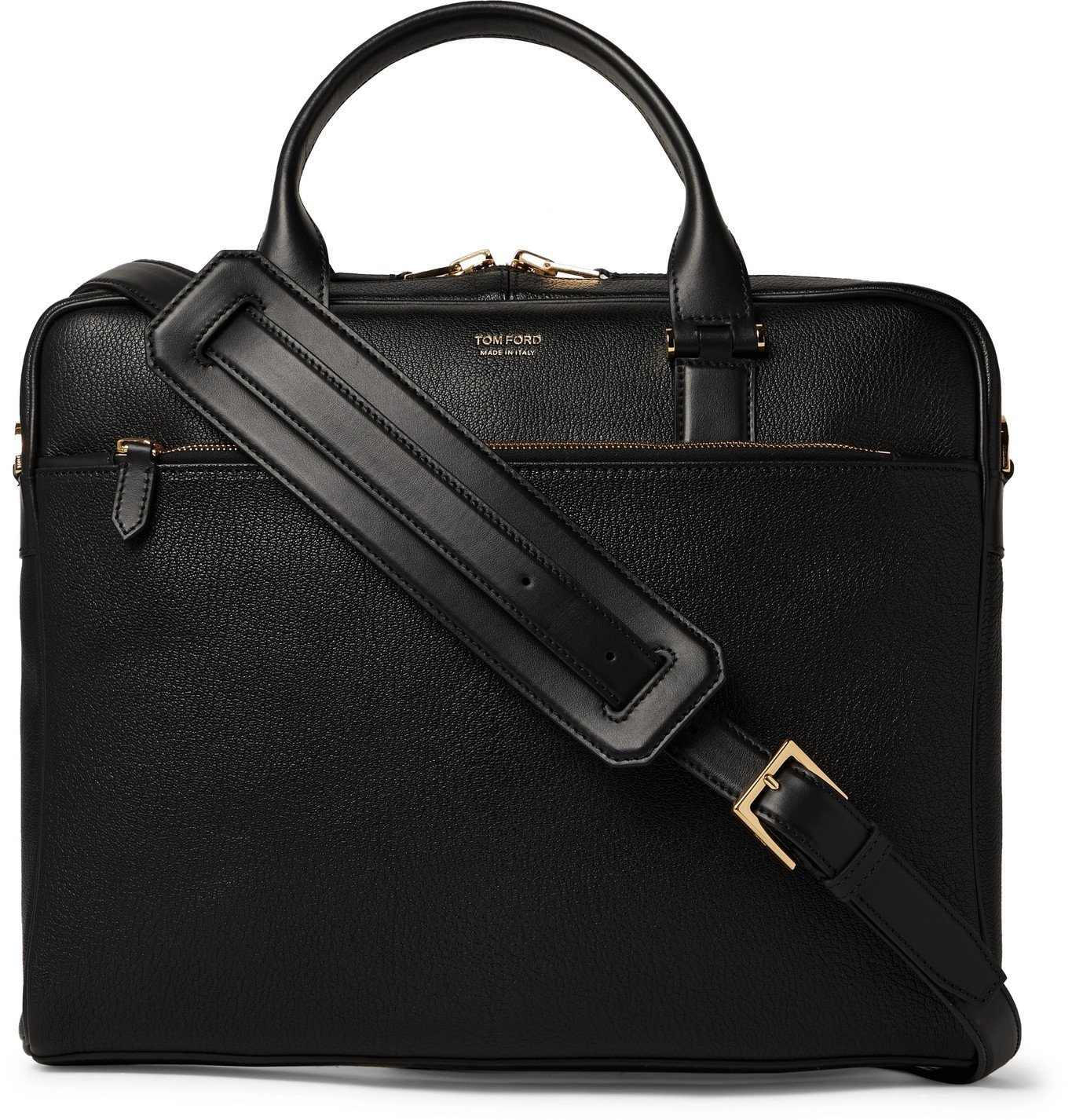 Photo: TOM FORD - Full-Grain Leather Briefcase - Black