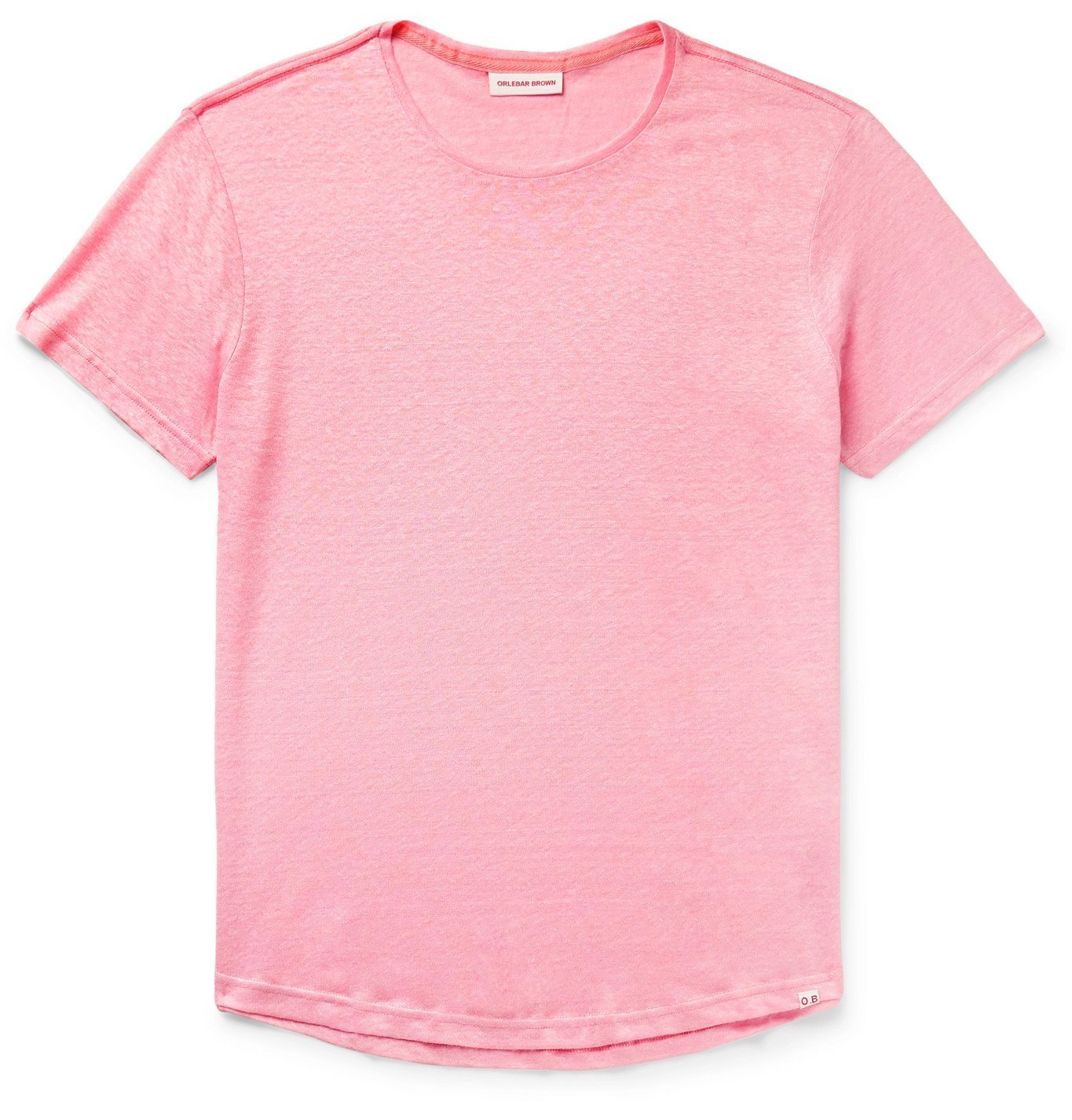 Photo: Orlebar Brown - OB-T Slim-Fit Linen T-Shirt - Pink