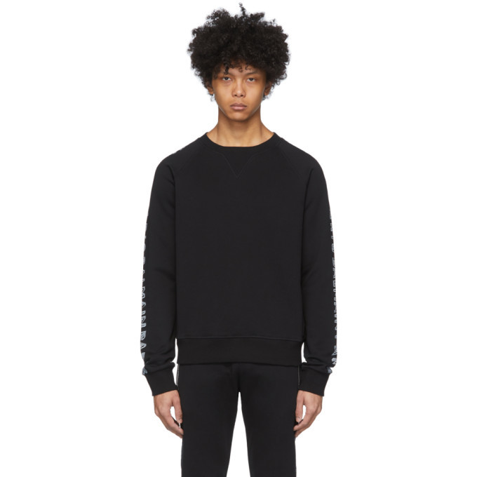 Photo: Balmain Black Logo Sleeve Sweatshirt
