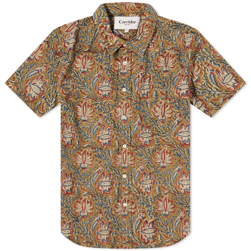 Corridor Short Sleeve Handblock Paisley Shirt