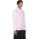 Comme des Garcons Homme Plus White and Pink Striped Shirt