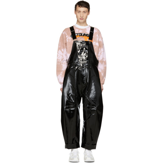 Photo: Chen Peng Black Glossy Overalls