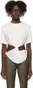 Kathryn Bowen White Twisted T-Shirt