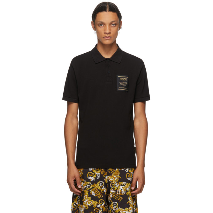 Photo: Versace Jeans Couture Black and Gold Warranty Tag Polo
