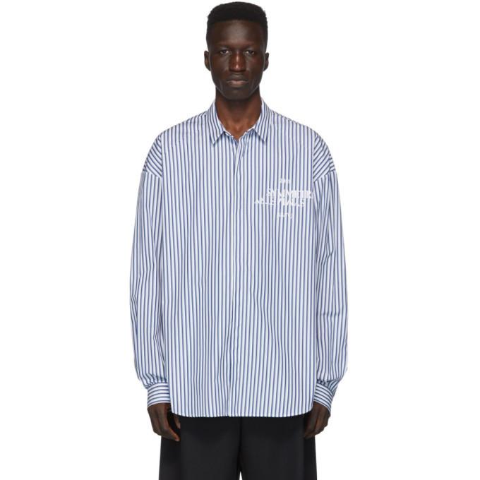 Photo: Juun.J Blue Striped Shirt