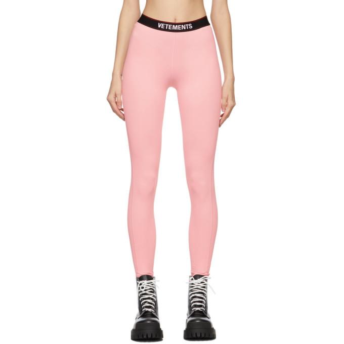 Photo: VETEMENTS Pink Logo Leggings
