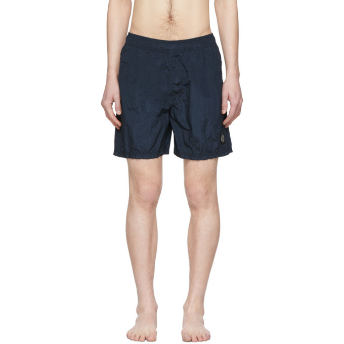 Photo: Stone Island Blue Nylon Swim Shorts