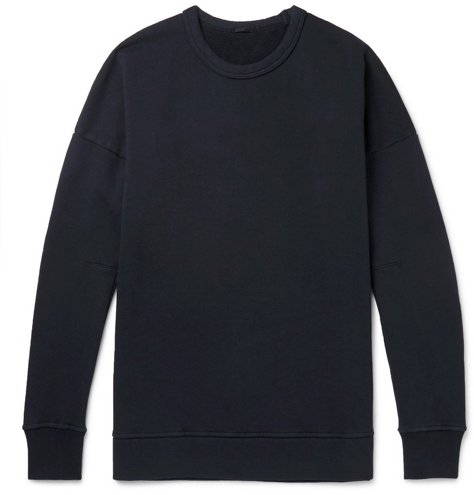 Photo: Ten C - Garment-Dyed Fleece-Back Cotton-Jersey Sweatshirt - Black