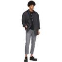 Acne Studios Black and Grey Check Pocket Over Shirt