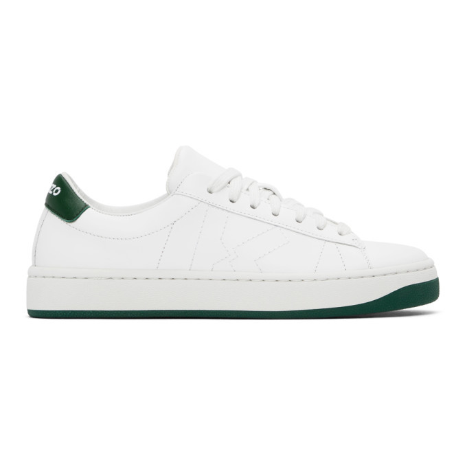 Photo: Kenzo White and Green Sport Logo Sneakers