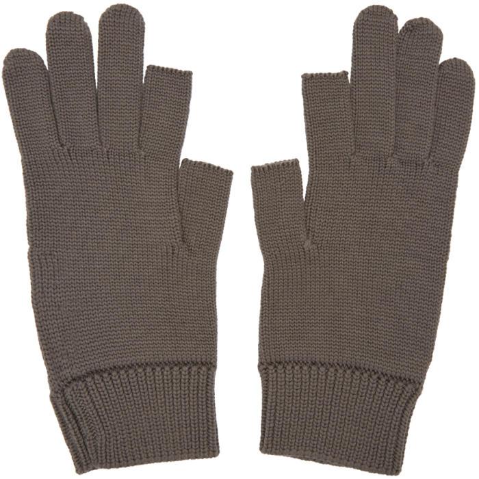 Photo: Rick Owens Grey Knit Gloves