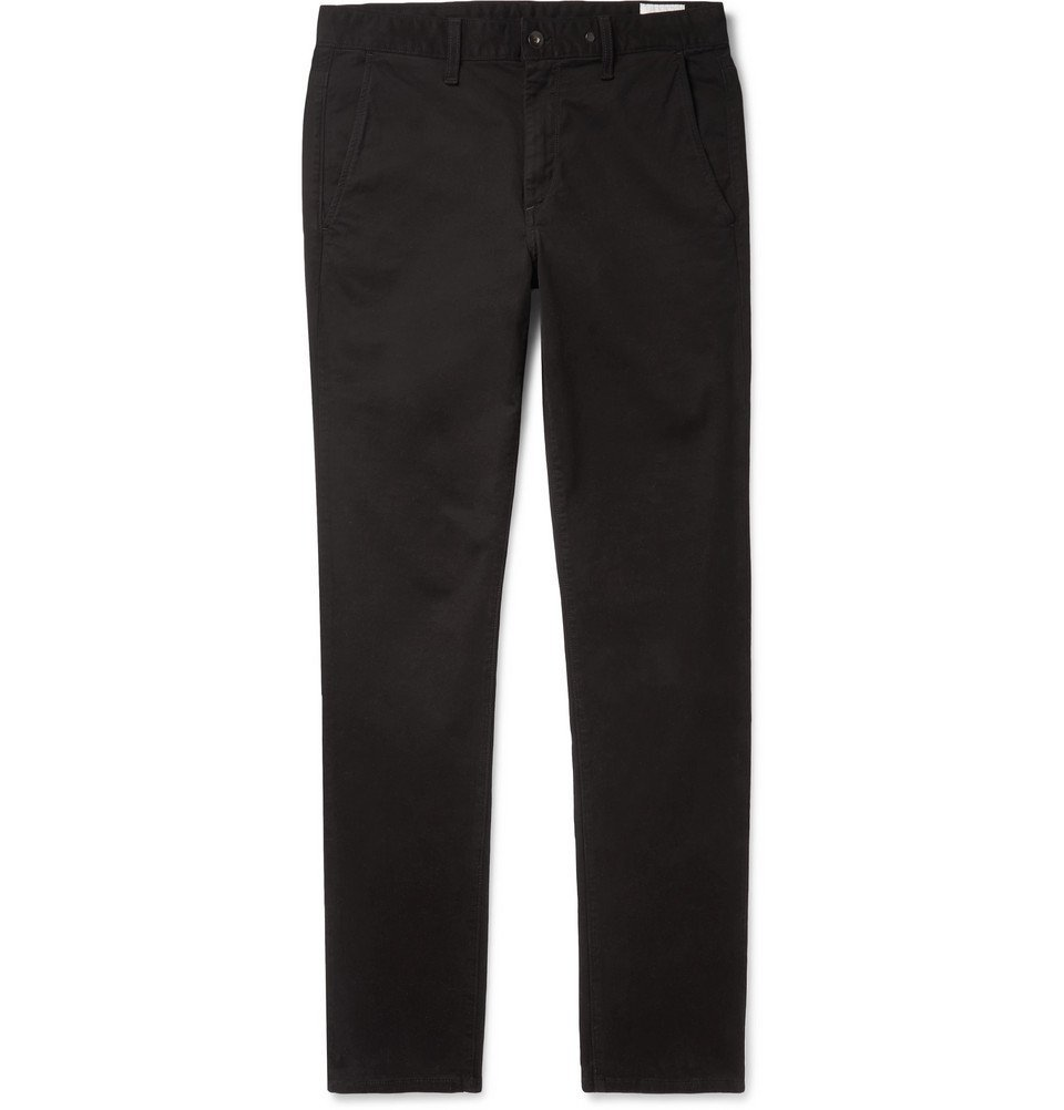 Photo: rag & bone - Fit 2 Slim-Fit Garment-Dyed Cotton-Blend Twill Chinos - Black